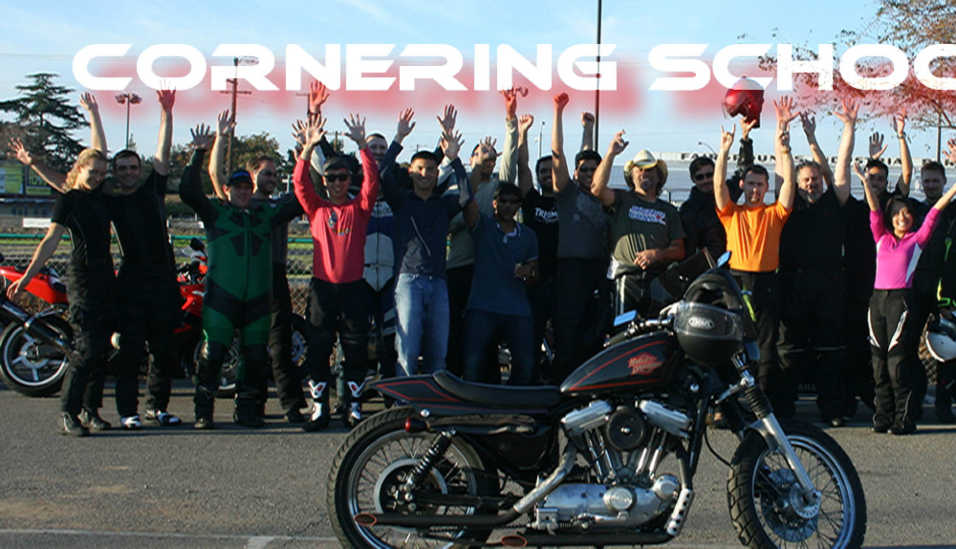 Motorcycle street rider school in California